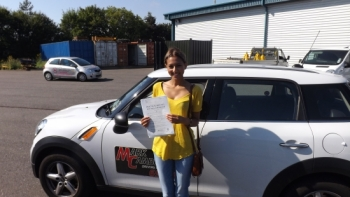 Thank you Mark for getting me through my driving test and helping my pass first time I am more confident driver thanks to your help and I would definitely recommend you to anyone thinking about learning Thank you again for all your help Amy